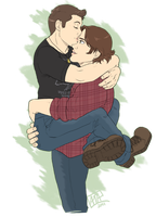 SPN Commission: Wincest by GI-Ace