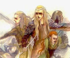 Battle of five armies elves by seleee