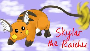 My flying Raichu by YoshiGamerGirl