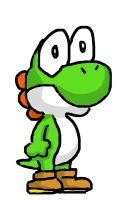 iPhone drawn Yoshi by Mamamia64