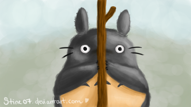 I can still see you, Totoro by Stine07