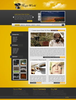 Magic World Wordpress Theme by Servetinci
