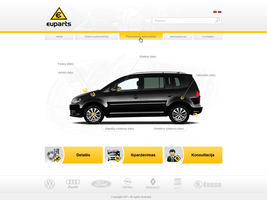 EuParts web design by repiano