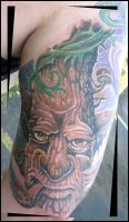 Tree Character Tattoo by catbones