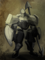 Mecha Knight Concept  Painting 2 by Gman20999