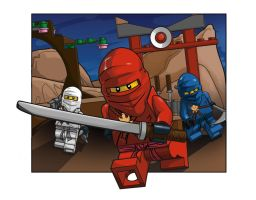 Test Piece for LEGO- Ninjago themed by button920