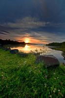 Mabou River Sunset by EvaMcDermott
