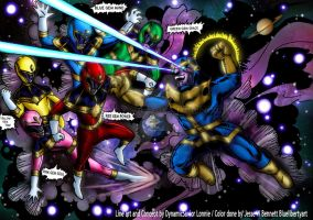 Infinity Stone Rangers Collaboration by blueliberty