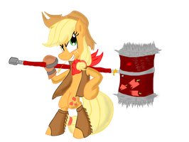 Fighter Applejack by TiXoLSeyerk