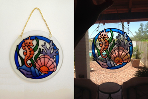 Faux Stained Glass Seahorse (Chimes) by pinkythepink