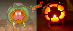 Metroid Pumpkin by Myn-Anthony