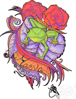 Girly little frog : Tattoo Design by Mareve-Design