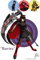Commission - Hexafusion A+B+C - Ruvira by RobertFiddler