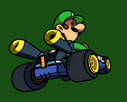 Luigi death stare... Literally... by Blistinaorgin