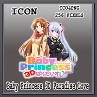 Baby Princess 3D Paradise Love Icon by Myk-2103
