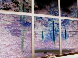 Painted Trees in the Window by IceSkating-Otaku-813