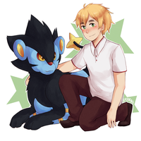 England and Luxray by say0ran
