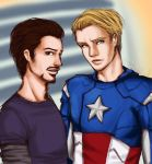Tony and Steve by starrywhitewall