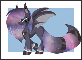 Pony design: galaxy bat pony by BlackFreya