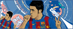 David Villa FC Barcelona by akyanyme