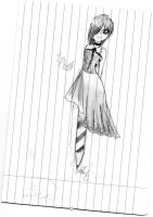 Pencil girl by Nyan-the-Reaper