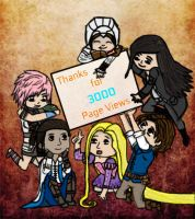Thnxs For 3000 Page Views!!! by Valkyr1e-Cain