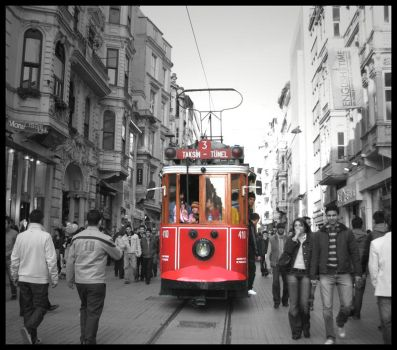 Red_Tram by lucytheocean