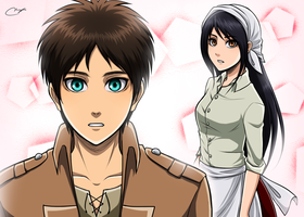 Haven't we met before? - Eren x Veena by Vhenyfire
