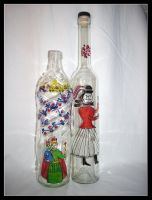 Painted bottles by Hemhet