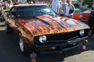 1969 Camaro SS With Flames by SageRaventree