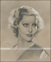 Portrait of Loretta Young by Artman2112