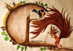 the fox and the crow by khadydemon