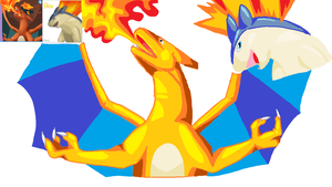 Typhlosion and Charizard by XxMaz-AlmightyxX