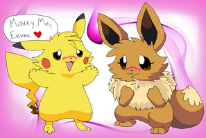 PC ~ Marry me Eevee ~ by ShiroFeretto23