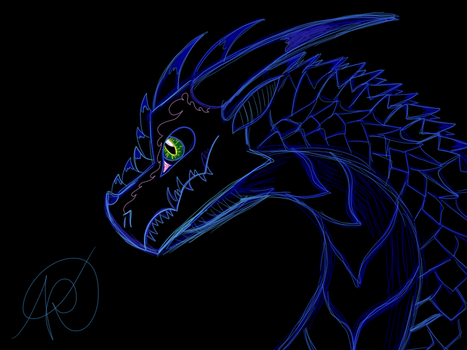 Detailed Dragon by BloodyTheNightWing