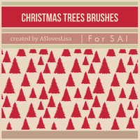 [For SAI]  Christmas Trees Brushes by ASlovesLisa