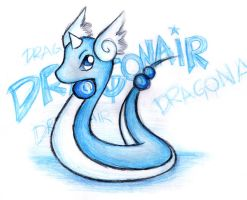 Dragonair by shiroiwolf