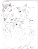 The Pack Chibis-extended by AmmyWolf95