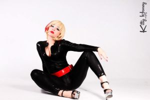Kitty Honey in a Black Catsuit 02 by Kitty-Honey