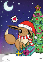 Eevee christmas ^^ by LittleMissAntiSocial