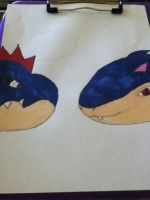 croconaw and Typhlosion by ResidentEvilhunters