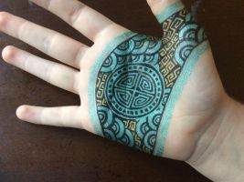Lotus hand art side two by scifinina