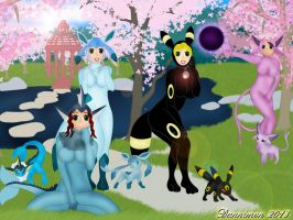 Eevee Suits by DannimonDesigns