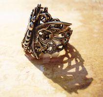 Victoriana Butterfly Ring by LaOubliette