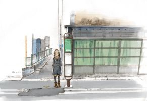 Bus Stop by kskb