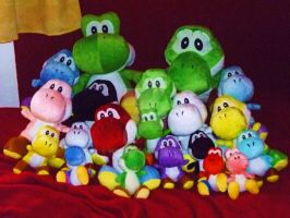 my plush Yoshi collection by Myaco