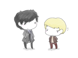 Holmes and Watson by LadyxOwl