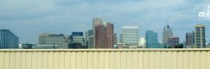 Baltimore Skyline from I-95 by abentco