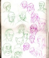 Many Faces Of Harry Potter by WinkGuy1