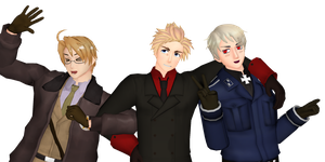 [MMD] APH: Awesome Trio Because of Reasons by LockdownVII